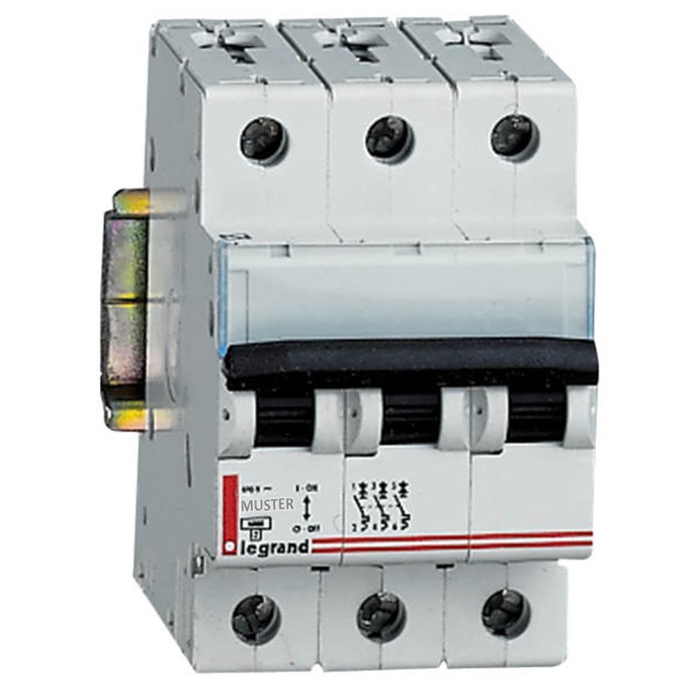LS B 20A 6kA 3Pol DX-E B-Auto 003327 - 502-J71553 - 3-polig - LS ...
